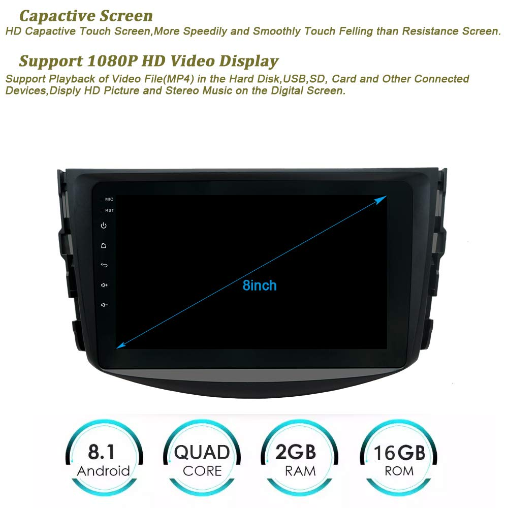 Amazon.com: SWTNVIN - Estéreo de doble DIN para coche Toyota ...