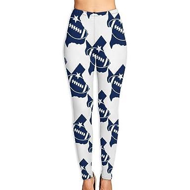 Amazon Com Wjm Show Women S Texas Football Leggings Yoga Long Pants