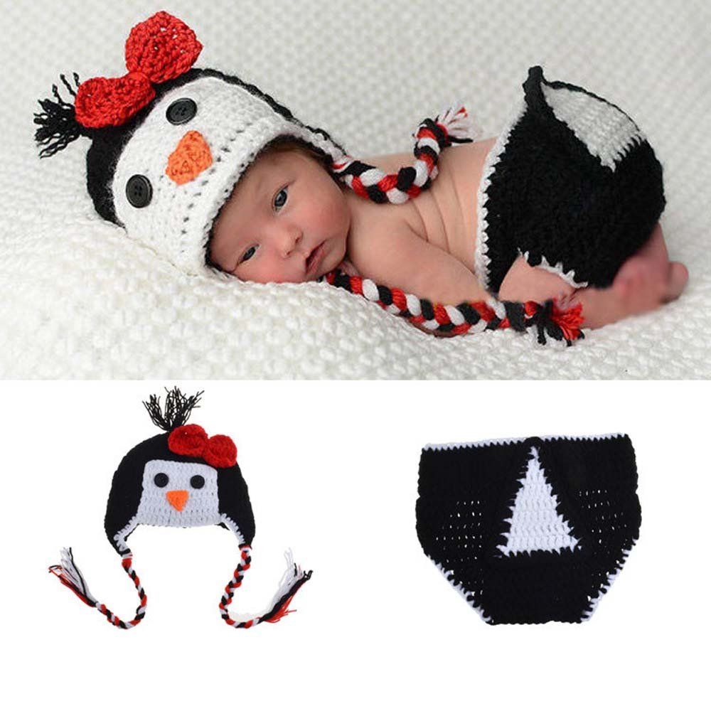 Amazon Osye Newborn Baby Crochet Knitted Outfit Penguin Hat