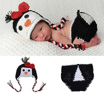 Amazon.com: osye bebé recién nacido Gorro de Crochet traje ...