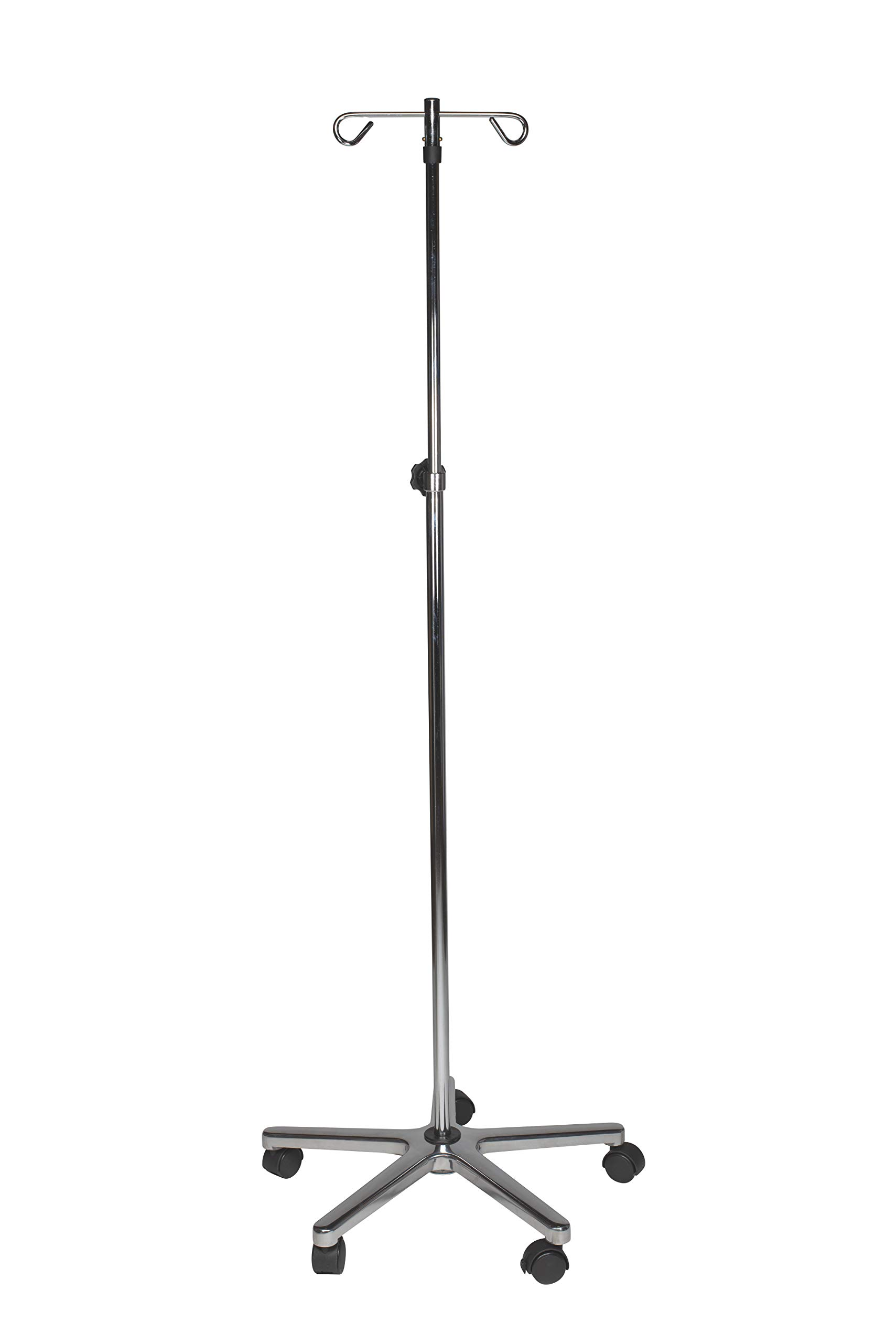 Deluxe IV Pole, 5 Legs, 2 Hook, Chrome (Pack of 2)