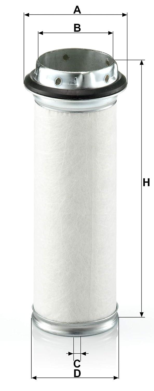 F/ür Nutzfahrzeuge Sekund/ärfilter Element mit passendem Prim/ärelement C 17 134 Original MANN-FILTER Luftfilter CF 711