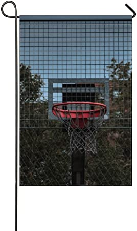 Donggan Garden Flag Basketball Hoop Backboard Hoop 12x18 Inches Without Flagpole Amazon Ca Patio Lawn Garden
