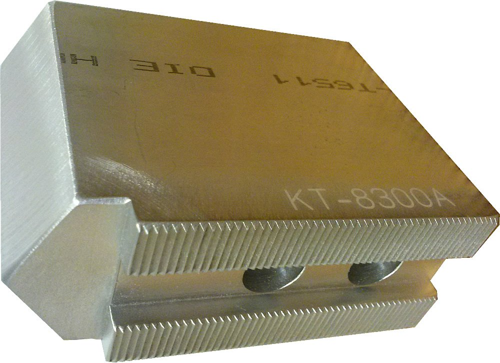 USST KT-8300AP Alum T6061 Pointed Soft Chuck Jaws for 8'' CNC Lathe Chucks, 3'' Tall (Set of 3 Pieces)