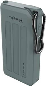 myCharge Portable Charger Waterproof Power Bank Adventure Fast Charging Rugged Heavy Duty Outdoor USB Battery Pack External Cell Phone Backup for Apple iPhone, iPad, Android (15000mAh, 82 Hrs)