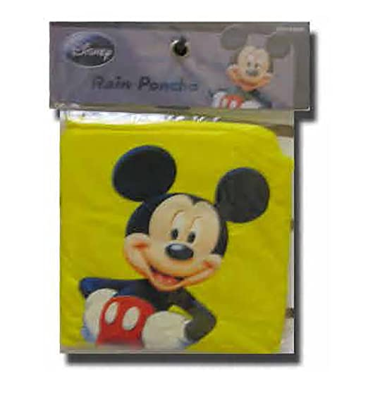 Disney Mickey Mouse Standing Yellow Adult Poncho At Amazon Mens