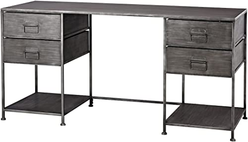 Deal of the week: Sterling Home Gunthery 4-Drawer Graphite desk,