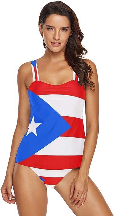 Juego de Bikini de Dos Piezas con Bandera de Puerto Rico, para Mujer - Multi - Small: Amazon.es: Ropa y accesorios