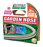 HARVEST TRADING GROUP Metal Garden Hose (25'), The Original 304 Stainless Steel Metal Garden Hose