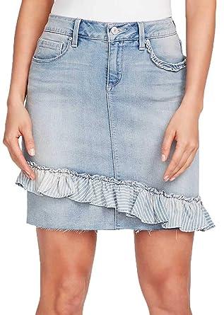 34f4b7bf42 Vintage America Blues Women's Straight Denim Skirt, Wisteria Light ...