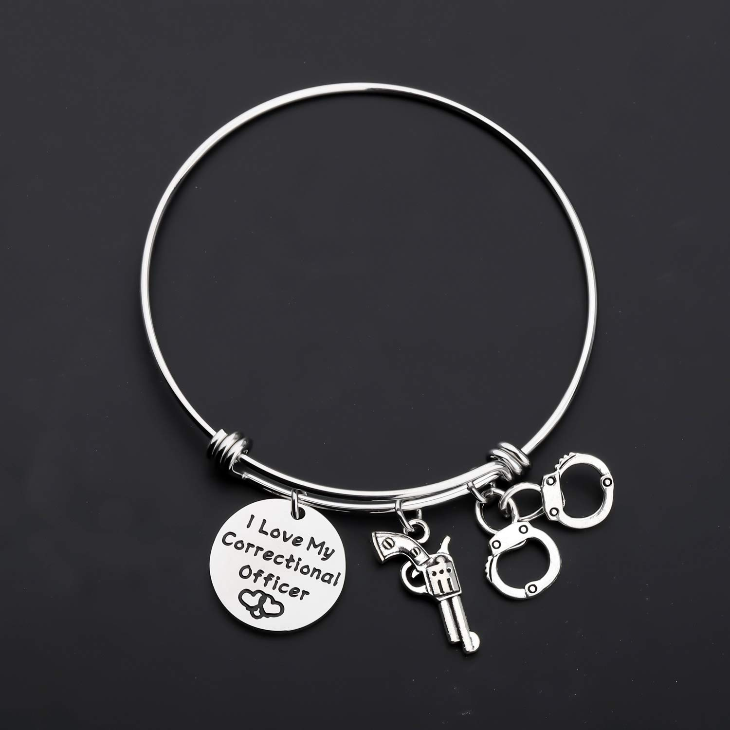 Gzrlyf Correctional Officer Wife Gifts I Love My Correctional Officer Bracelet for Wife Mom