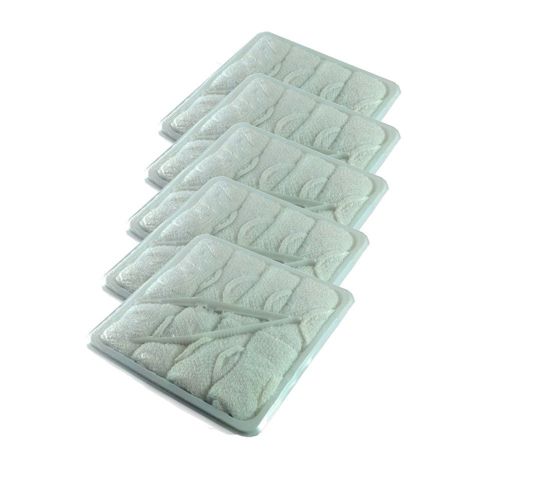 Disposable bathroom hand towels - Disposable Hot Towels Lemon Scent 40 Pack