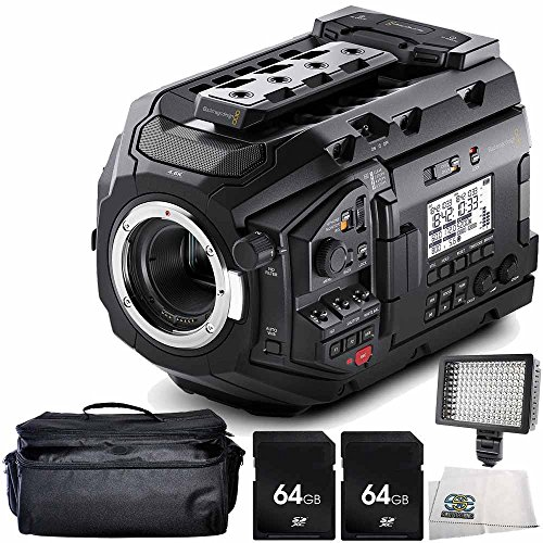 Blackmagic Design URSA Mini Pro 4.6K Digital Cinema Camera 5PC Accessory Bundle – Includes 2x 64GB SD Memory Card + Deluxe Carrying Case + MORE by SSE
