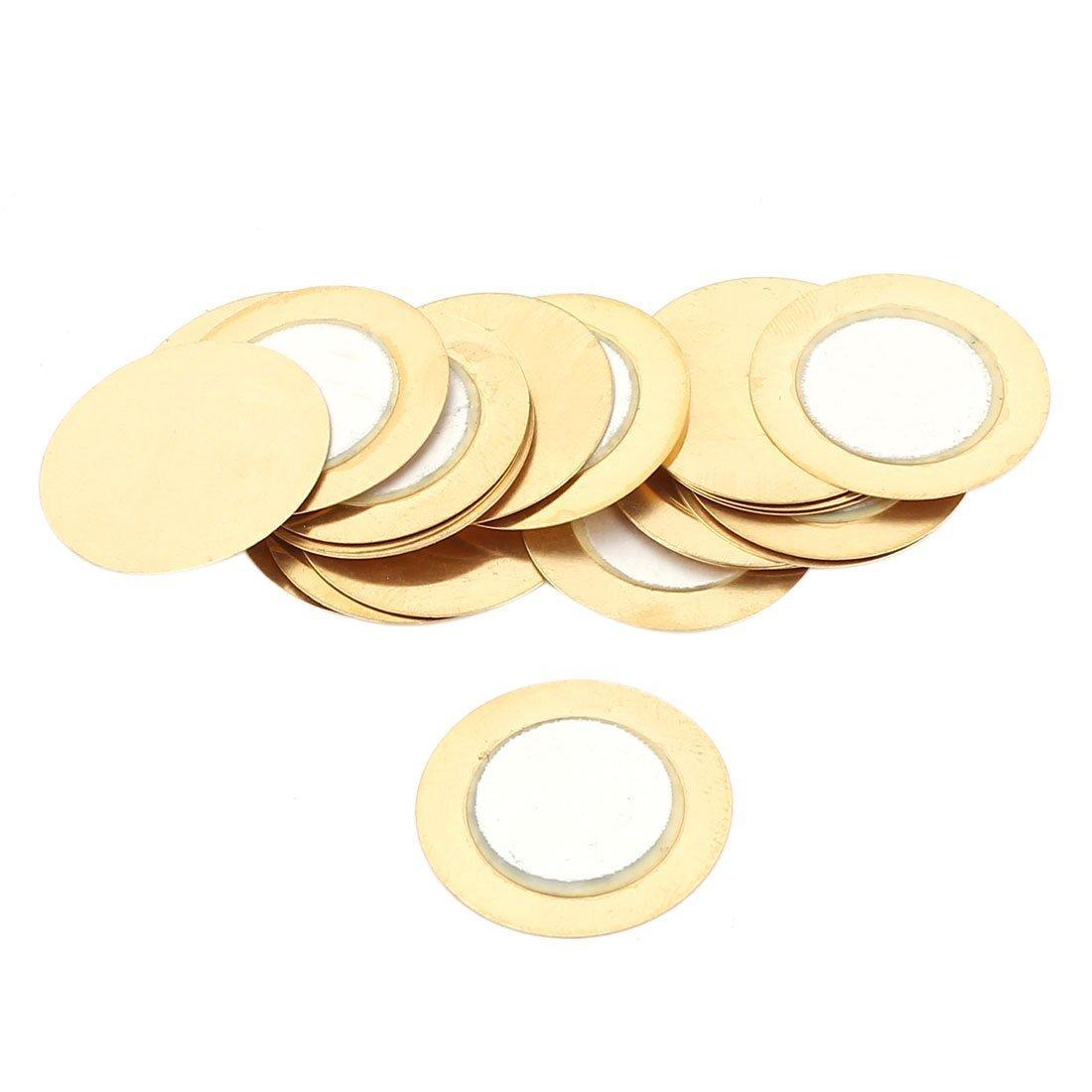 20 Pcs disco cerámica zumbador piezoeléctricos 20mm Diámetro película circular