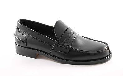 d98b0b8cd9e9a Lion Chaussures Homme Noir 1737 College Mocassins crichet Ligne Originale  de Ecosse  Amazon.fr  Chaussures et Sacs