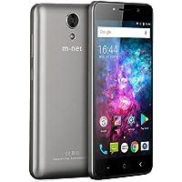 m-net Power 1 3g Telefoni Cellulari con 5050mAh, OTG, Android 7.0, Dual SIM, 5.0 Pollici HD IPS, Quad Core MTK6580, RAM 1GB + 8GB ROM,5MP, Doppio Flash, Smartphone Per Bluetoth, GPS, WIFI- Grigio