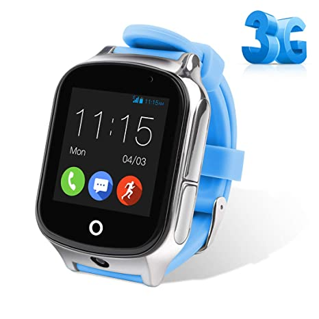Autopmall GPS Watch Kids GPS Tracker Watch Waterproof IP65 SOS Call Function GPS WiFi LBS Real Time Tracking Health Steps Activity Tracking Boys Girls ...