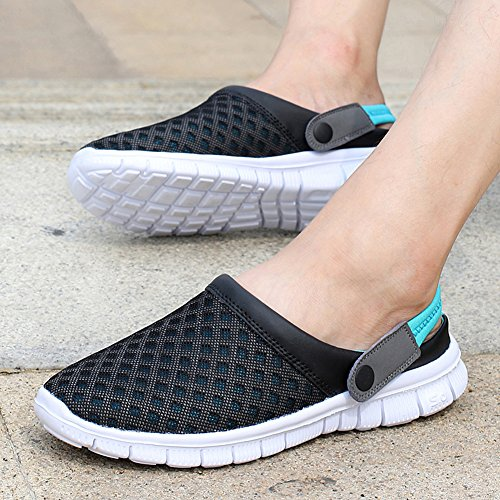 Eagsouni Unisex Men's Women's Summer Breathable Mesh Net Cloth Slippers Beach Sandals Anti-Slip Casual Shoes Blue hvamel