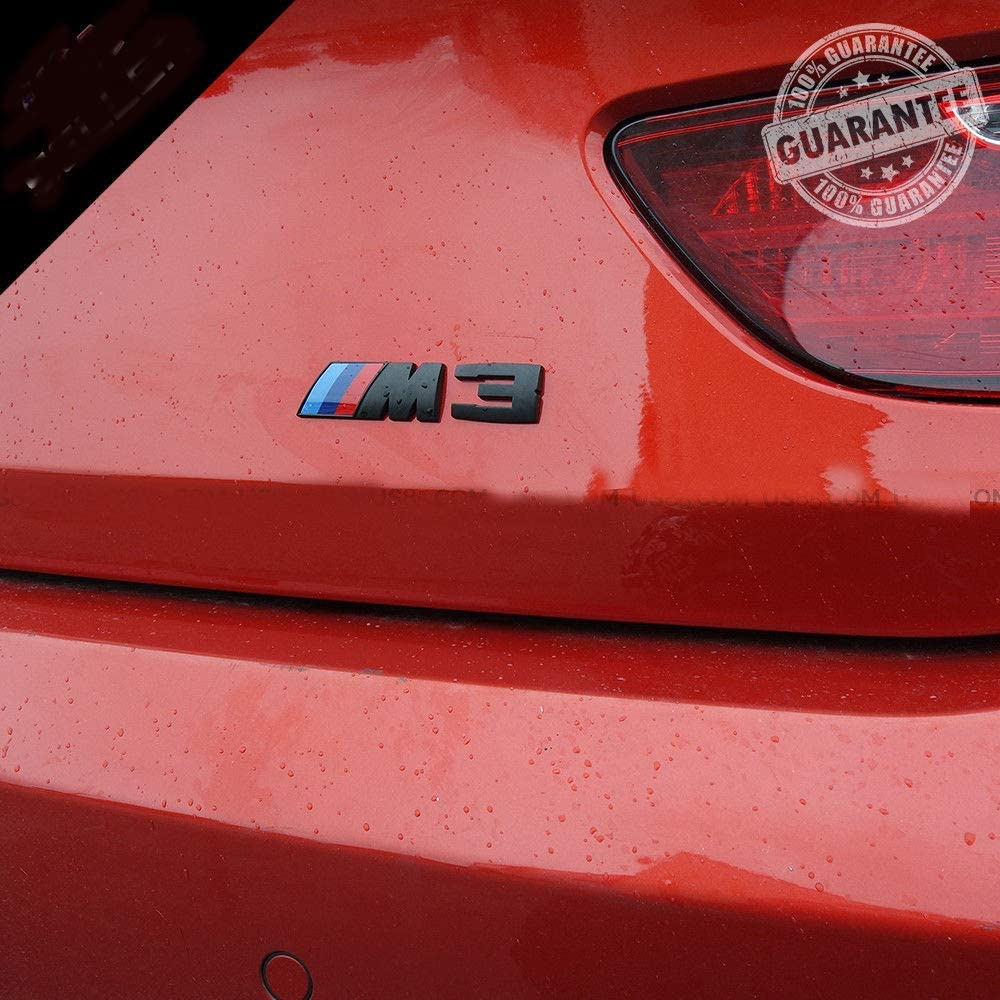 Black M5 3D Car M3 M5 ABS Rear Trunk Emblem Badge Sticker Decals for BMW 3 5 Series
