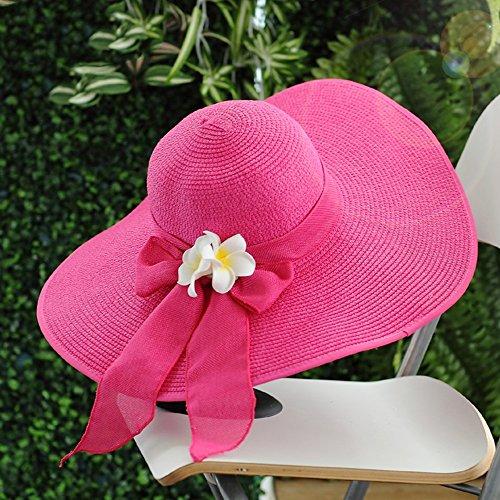 colore Cupola 4 Femminile Libero Paglia 4 Grandi Di Estate Protezione Cappello Solare Tempo Mare Gronda Ombra tOZAU