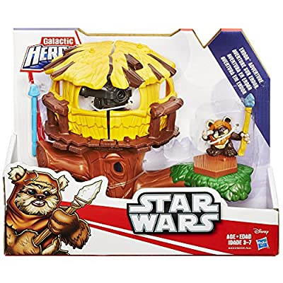 Star Wars Galactic Heroes Endor Adventure with Wicket Action Figure: Toys & Games