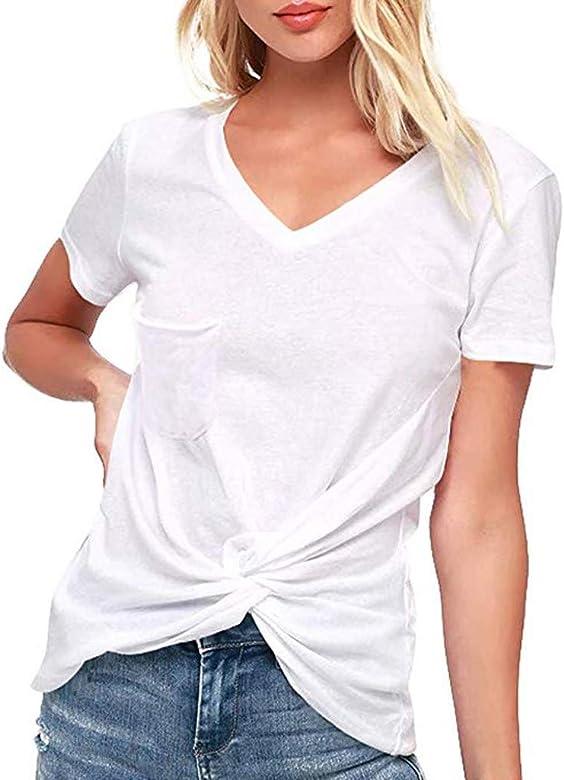 f94048624bad VEMOW Camiseta de Mujer Blusas Camisetas Manga Corta de Mujer con ...