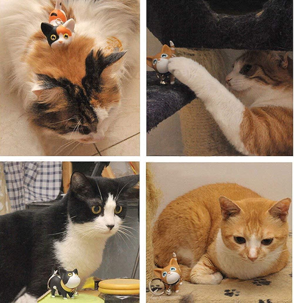 ICEBLUEOR Porte-cl/és chat chaton pour cl/és de voiture Kawaii Adorable sac pendentif jouet id/ée cadeau pour filles femmes et hommes