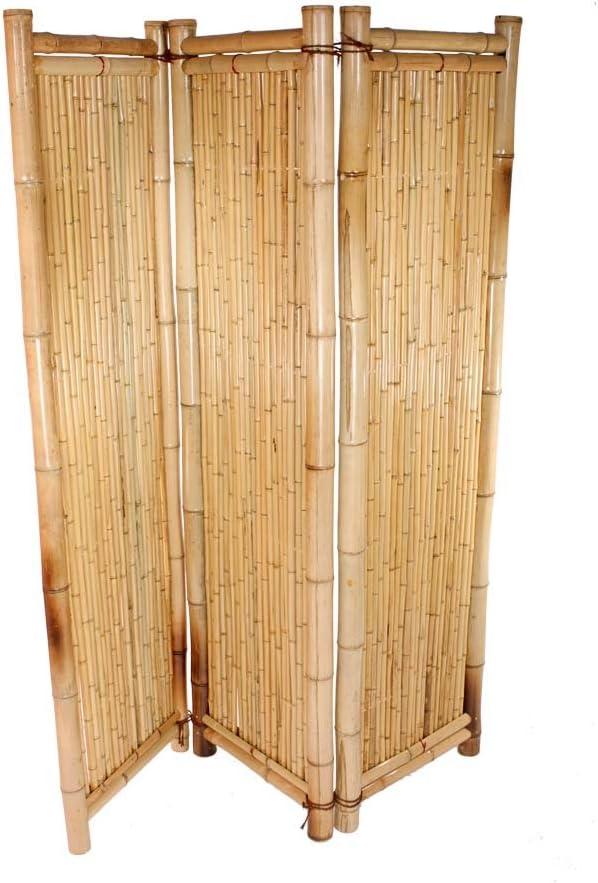 bambus-discount.com Biombo de bambú de Color Amarillo, 180 x 180 ...