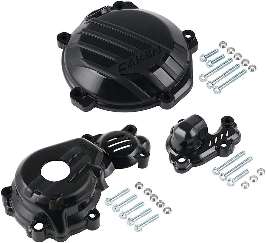 Repuestos Powersports Protección de bomba de embrague de encendido de agua protector for cubrir la KTM SXF XCF 250 350 2016-2019 2018 2017 EXCF SixDays 250 350 2017-2020 (Color : Black)