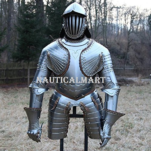 Lobster Pot Adult Costumes (NAUTICALMART cuirassier Armour With Lobster-Tailed Pot Helmet, Mid. 17th Century)