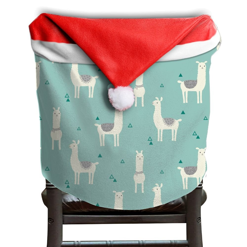 Llama Animal Christmas Chair Covers Antique Comfort Touch Hang Around Chair For Husbands Chair Back Covers Holiday Festive