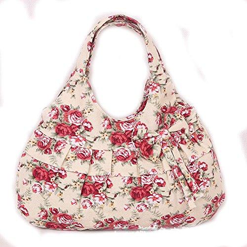 QPALZM Mode Dumplings Typ Leinwand Drucken Süß Lady Bogen Niedlich Handtasche 21,16 Unzen (oz),A8