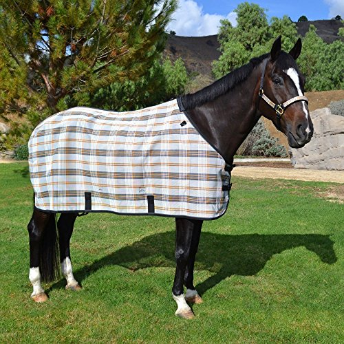 Kensington Signature Textilene Traditional Cut Protective Fly Sheet, Citrus Slate, Size 80 by kensington products
