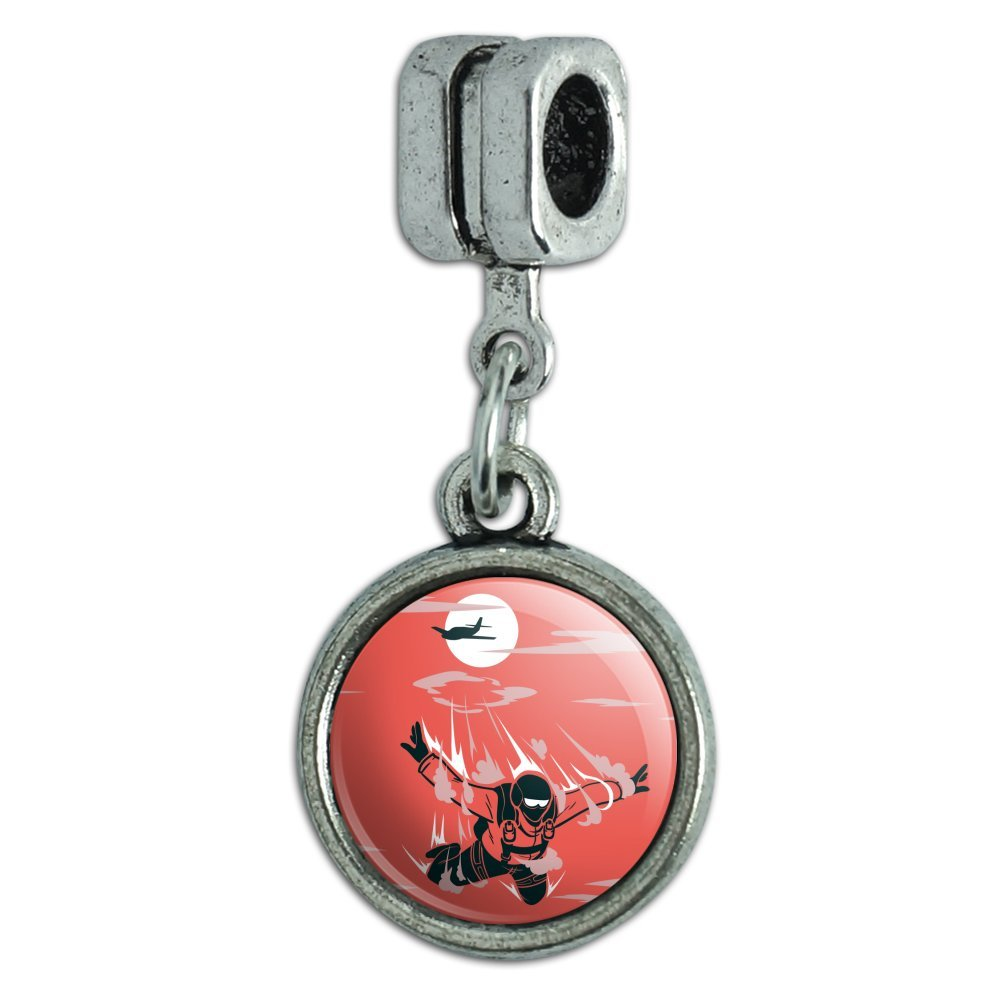 GRAPHICS /& MORE Skydiver Skydiving Out Plane Italian European Style Bracelet Charm Bead