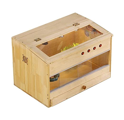 Reptil tortuga sólida caja de madera, reptil Breeding Box-tortuga ...