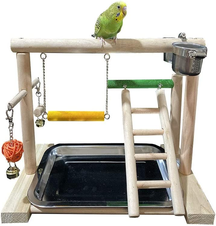 Pájaro del Patio Escaleras Loro oscilación del Soporte deformable Piel del Tigre Peony Misterioso Anillo de pie Monk Loro Juguete de Aves (Color : Multi-Colored, Size : C): Amazon.es: Productos para mascotas