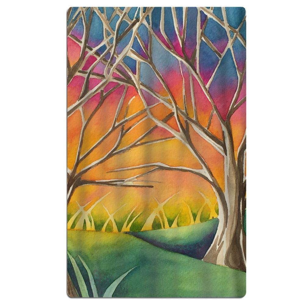Phyllis Walker Country Sunset Beach Towel Soft Quick Dry Lightweight High Absorbent Pool Spa Towel for Men Women 31 X 51 Inch