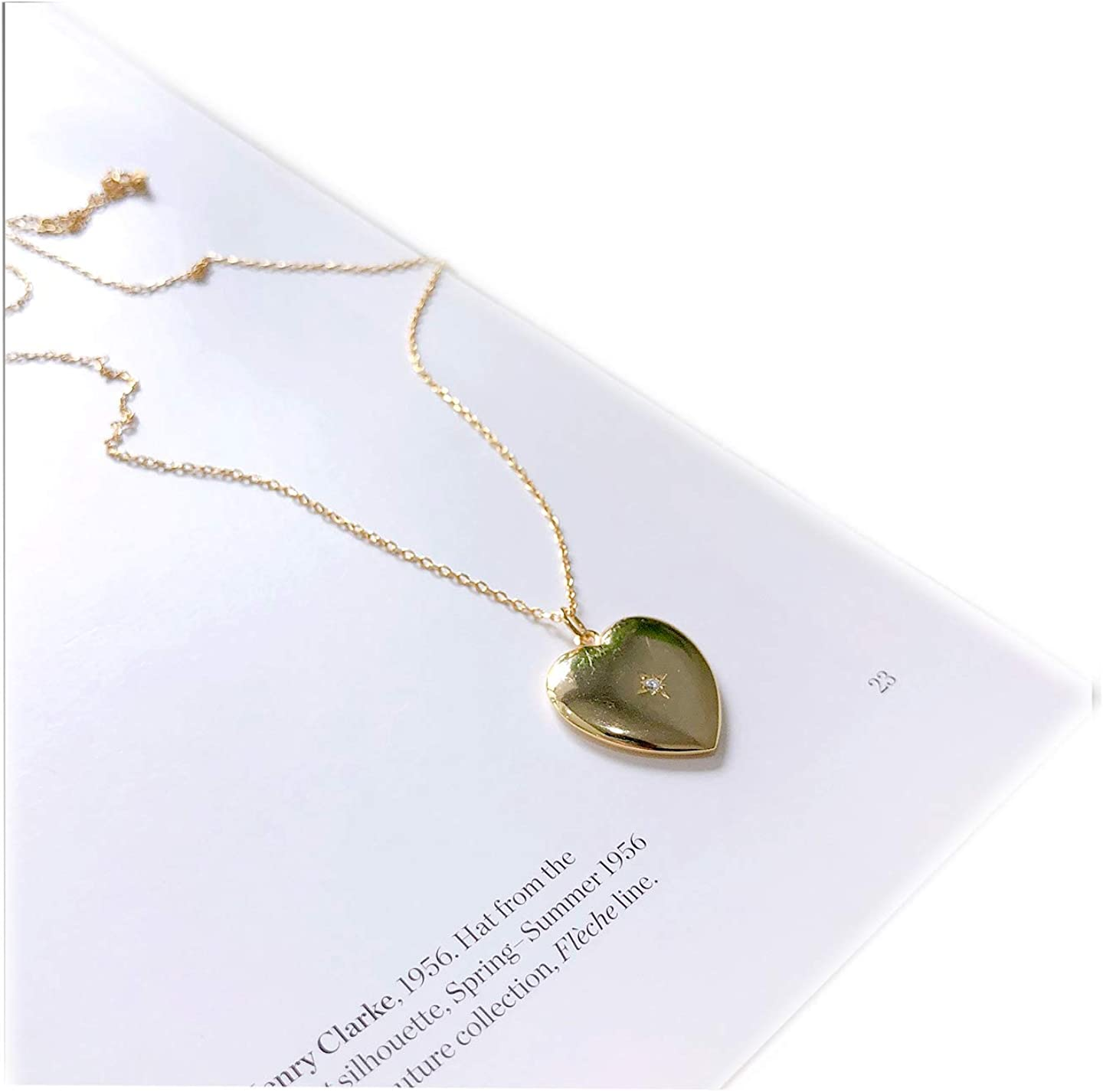 Anniversary gift for her Love earrings Cubic zirconia Birthday gift Delicate Dainty Gold charm necklace Heart pendant necklace