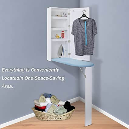 Charmant Qotone Ironing Board Center Cabinet,4 In 1 Multi Funcational Wall Mount  Closet With