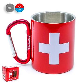 TopSpirit - Taza térmica de Doble Pared, diseño de Suiza, de ...