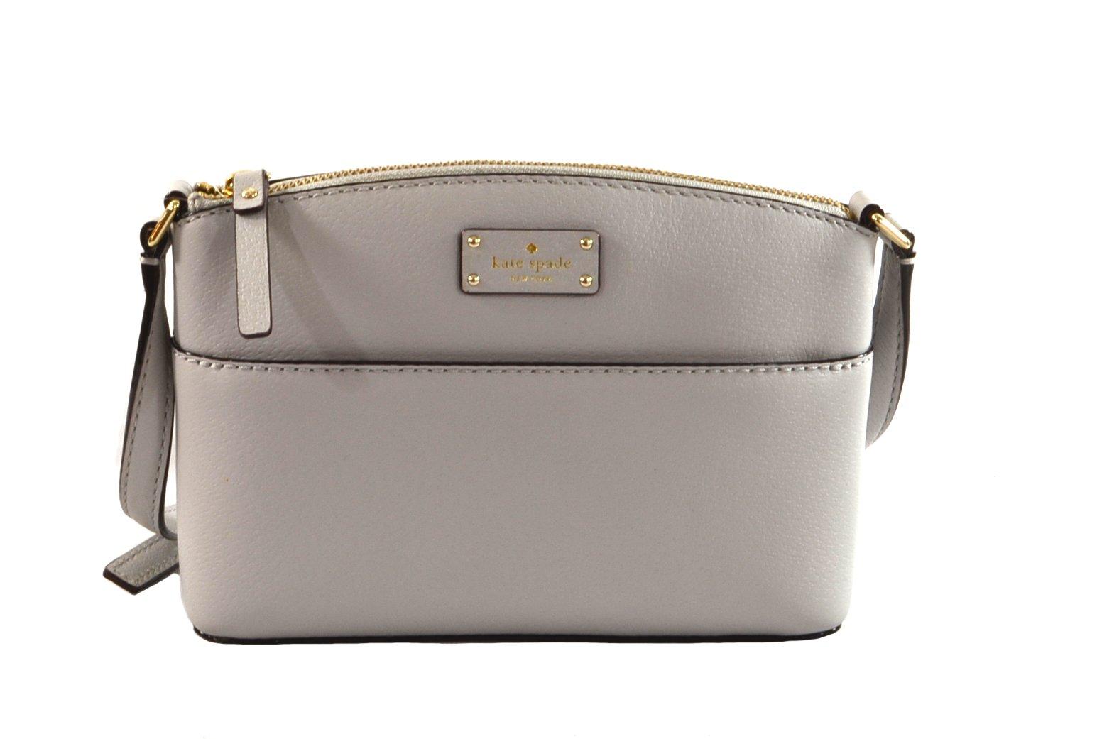 Kate Spade Millie Grove Street Leather Crossbody Bag Handbag Purse (StoneIce)
