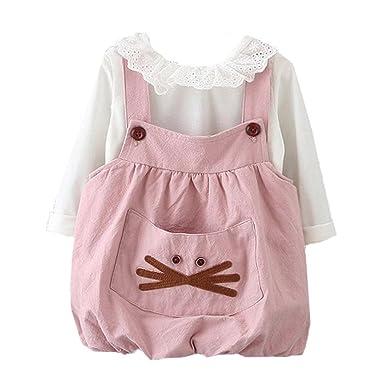 Amlaiworld baby kleid Mädchen langarm shirt + band kleider Niedlich ...