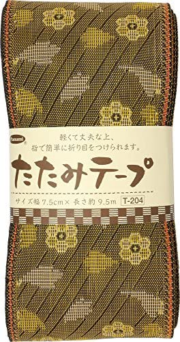 Panami たたみテープ 花柄 黄 T-204