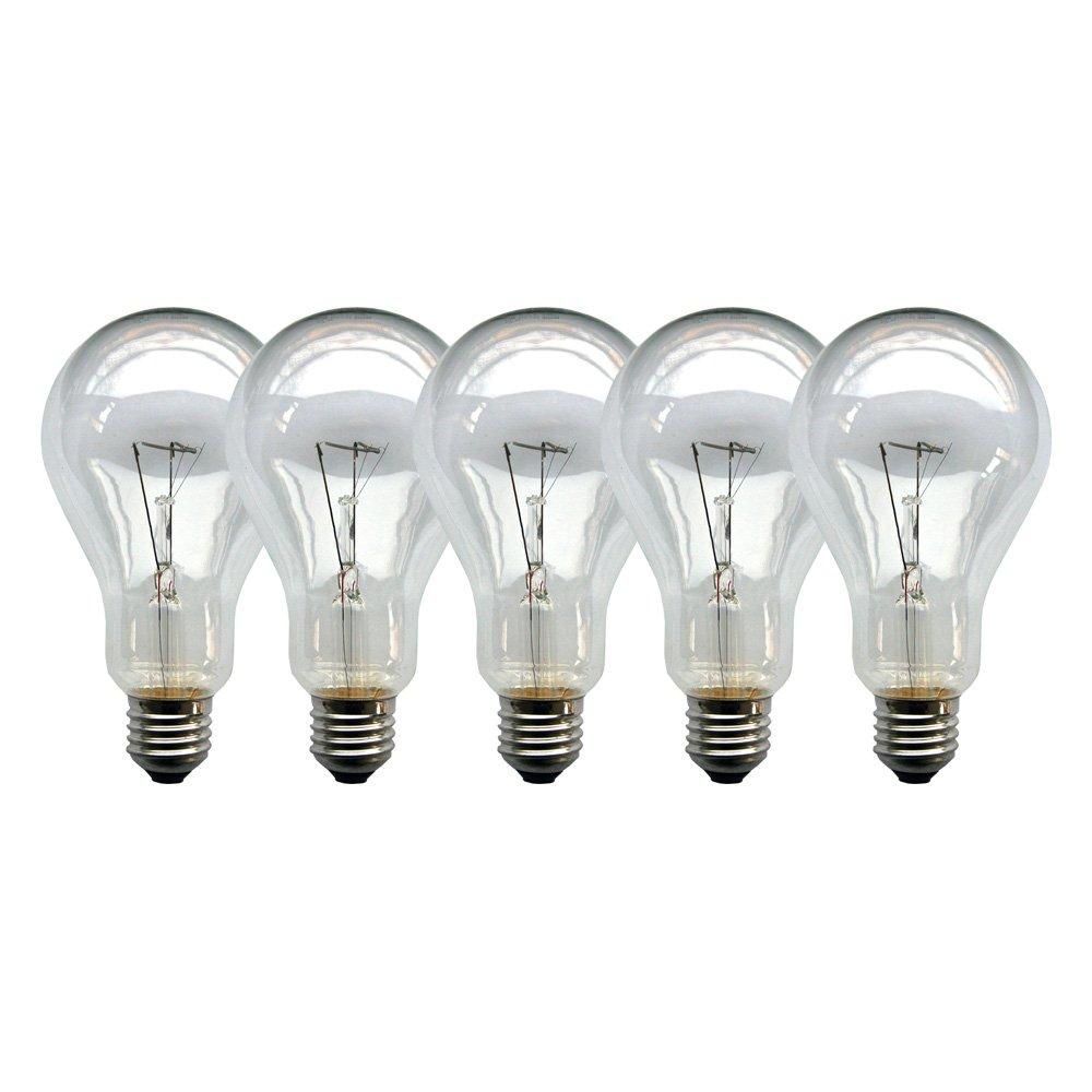 5 x Glühbirne Birne 200W klar E27 Glühlampen Glühbirnen Glühlampe 200 Watt NEU
