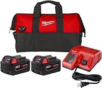 Milwaukee 48-59-1852P 18V Lithium-Ion XC Starter Kit w/Charger & Contractor Bag