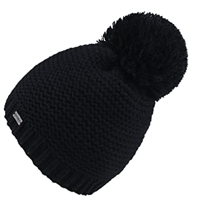 ce7908eb07d Women s Winter Pom Pom Hat - Wool Knit Beanie Hats For Women Girls FURTALK  Original
