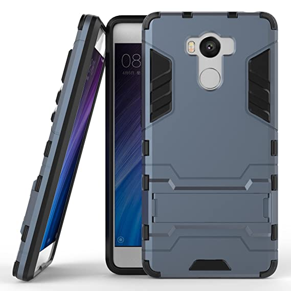 more photos e5b73 79492 Redmi 4 Prime Hybrid Case, Redmi 4 Prime Shockproof Case, Dual Layer  Protection Hybrid Rugged Case Hard Shell Cover with Kickstand for Xiaomi  Redmi 4 ...