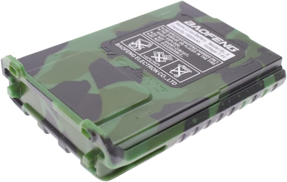 AOER 7.4V 1800mAH Replacement Battery for Baofeng UV-5R Series Radios Camouflage