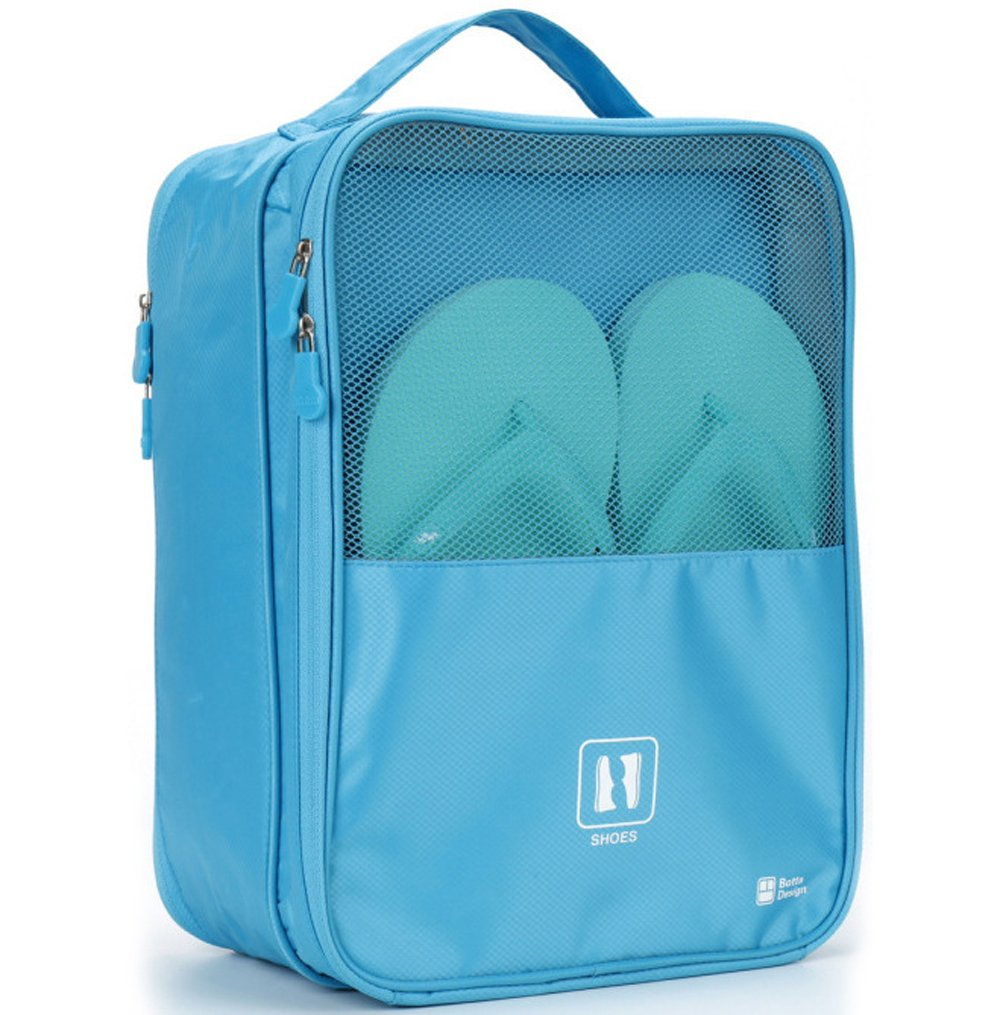 MoreTeam Shoe Storage Bag Holds 3 Pair of Shoes for Travel and Daily Use, Blue