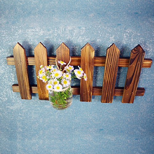 flower stand flower pot stand - Flower Rack Hanging Wall Decoration Wooden Rack Creativity Small Flower Shelf Dark Brown (Color : Width:30CM) by Hyun times Flower stand